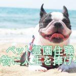 横田晴正はペットのお坊さん(僧侶)動物の為の人生。経歴や書籍は出しているのか?